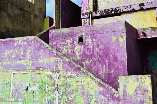 istock Abstract background purple grunge wall 1166387138