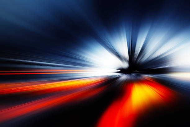 Abstract Background - rays of colorful light stock photo