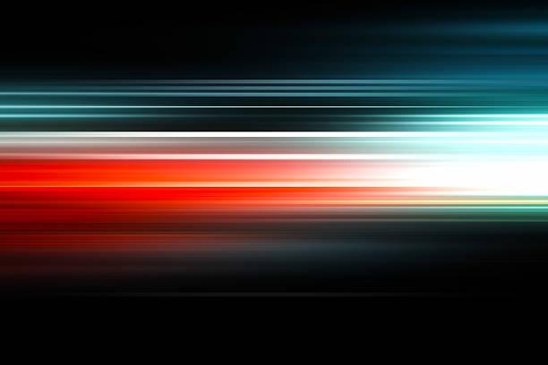 抽象的な背景-カラフルな光の光線 ストックフォト