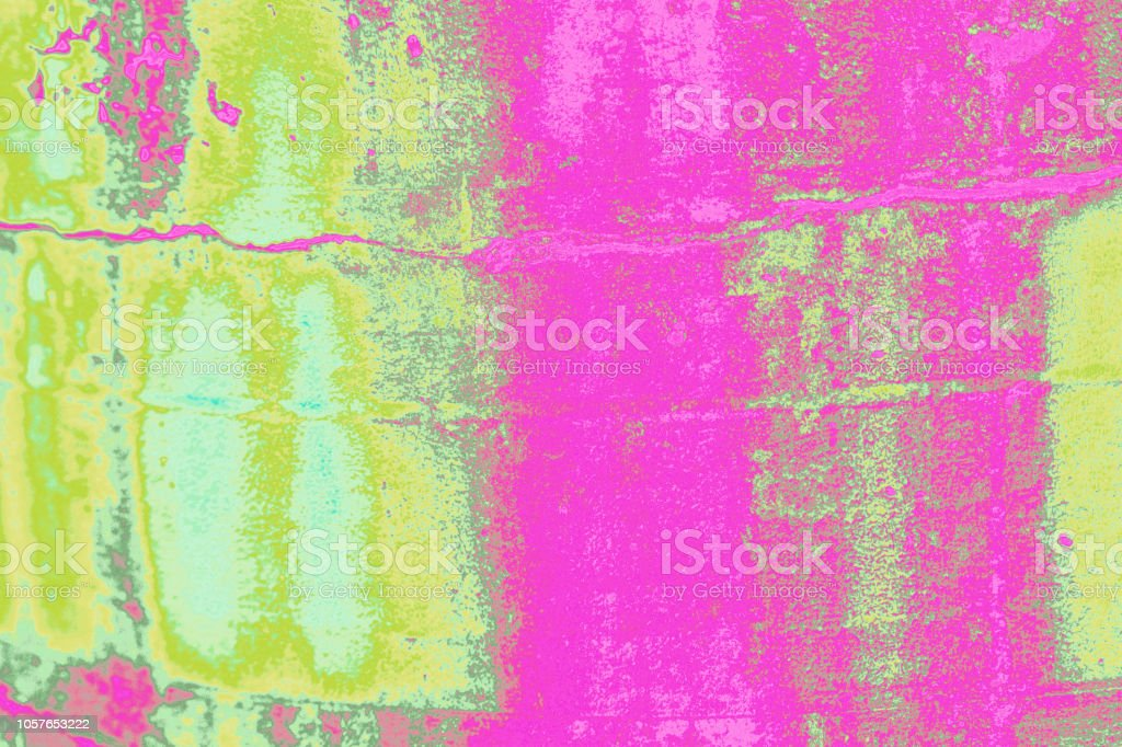 Abstract Background Rustic Metal Texture Jazzy Hot Pink Chartreuse