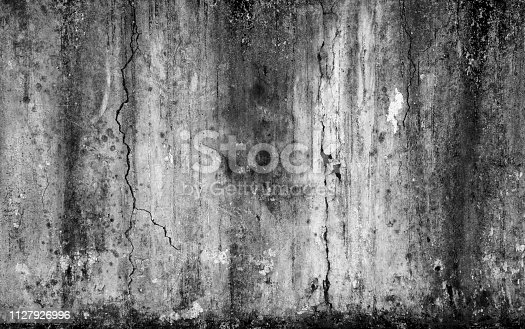 istock Abstract background scary old cement wall and cracked concrete 1127926996