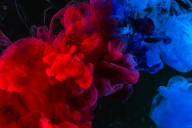 Abstract Background Splashing Smoke Color Texture In The Air