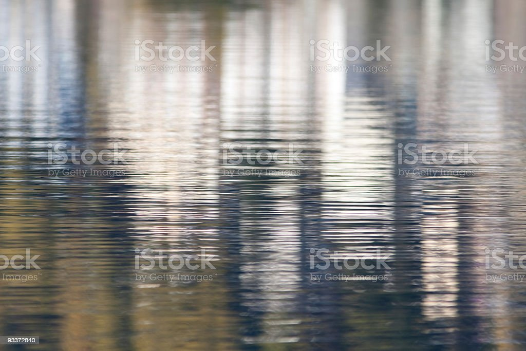 Abstract background -- St.Moritz reflected in his Lake royalty-free stock photo