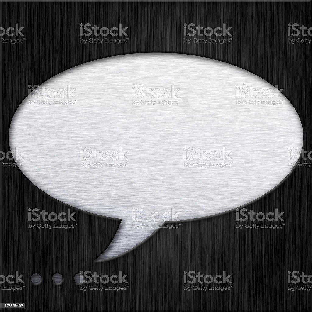 Abstract background,  Talk bubble concept of metal plate royalty-free stock photo