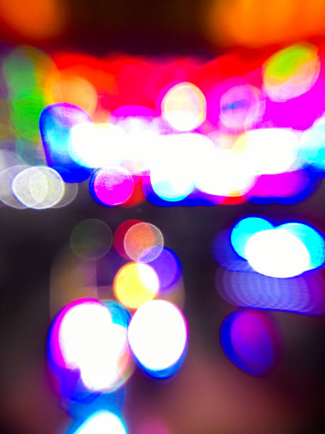 Abstract Background, the multicolor LEDs defocused