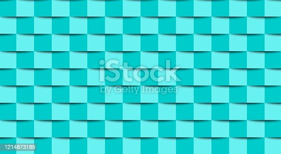 istock Abstract background - wall from square graphic elements 1214873185