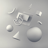 istock Abstract background web content. 3d render 861865130