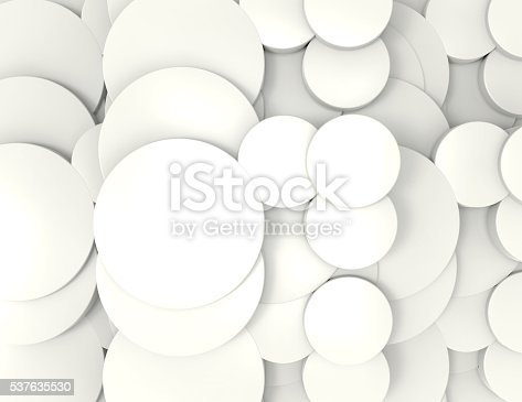 istock abstract background white circles 3d render 537635530