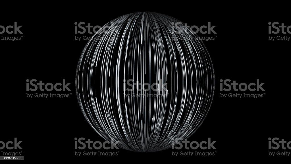 Abstract background with a sphere formed from the lines stock photo