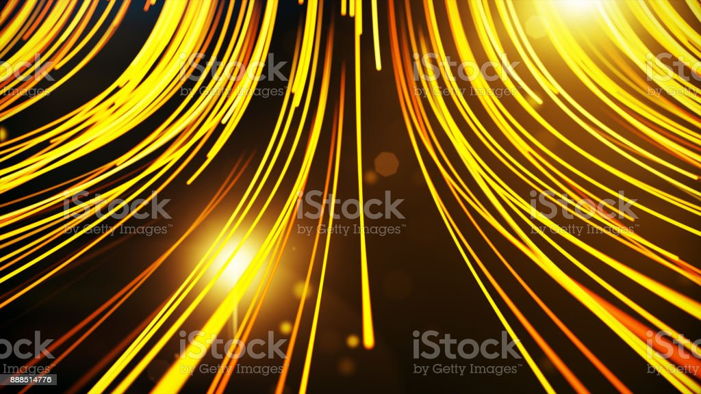 Abstract background with animation moving of lines for fiber optic network 3d illustration.See more color options in my portfolio stock photo