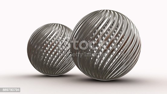 istock Abstract background with balls, 3D rendering 889790794