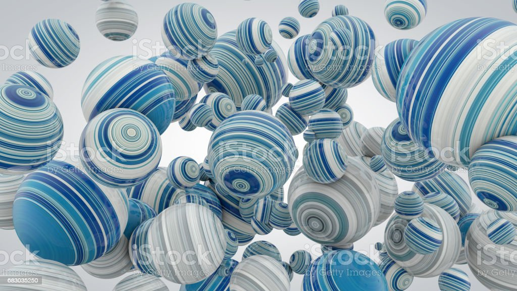 Abstract background with balls, 3D rendering, stretched pixels texture, fresh and lush foto de stock royalty-free
