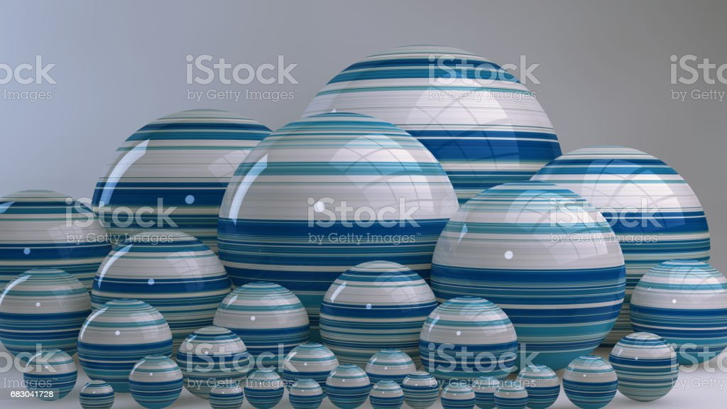 Abstract background with balls, 3D rendering, stretched pixels texture foto de stock royalty-free