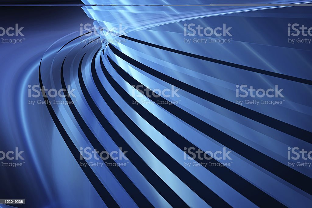 Abstract background with bending blue lines royalty-free stock photo