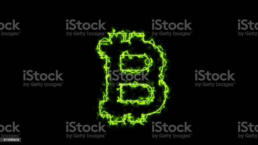 Abstract background with bitcoin sign stock photo