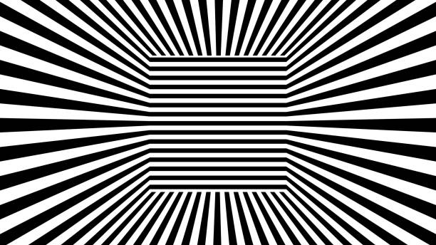 Abstract background with black and white stripes stock photo