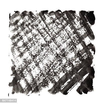 647148346 istock photo Abstract background with black textured strokes 647148414