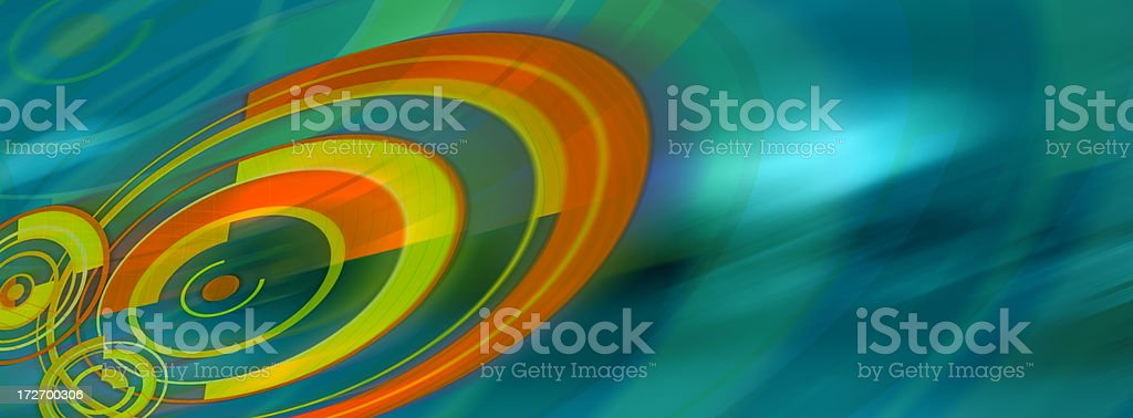 Abstract Background with Circles and Curves 2 stock photo