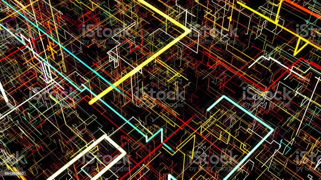 Abstract background with circuit. Digital illustration stock photo