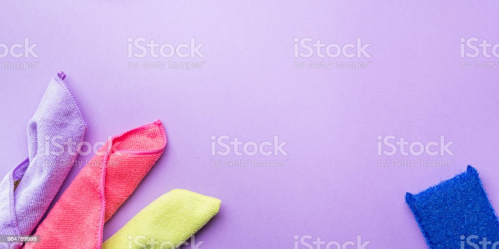 Abstract background with cleaning cloths, sponges royalty-free stock photo