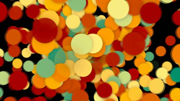 Abstract background with colorful circles stock photo