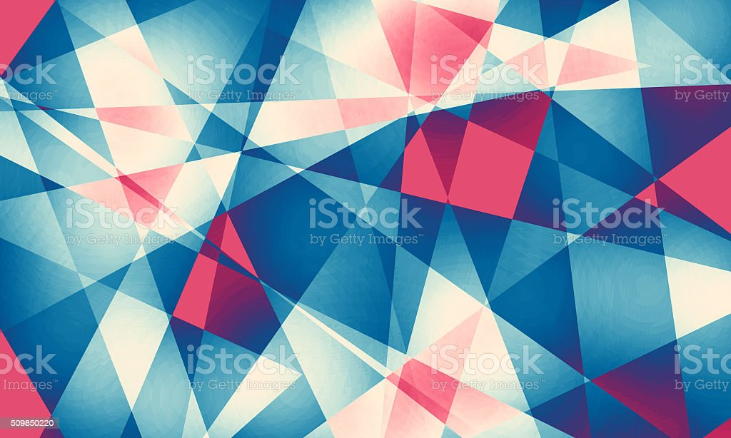 Abstract background with colorful polygons stock photo
