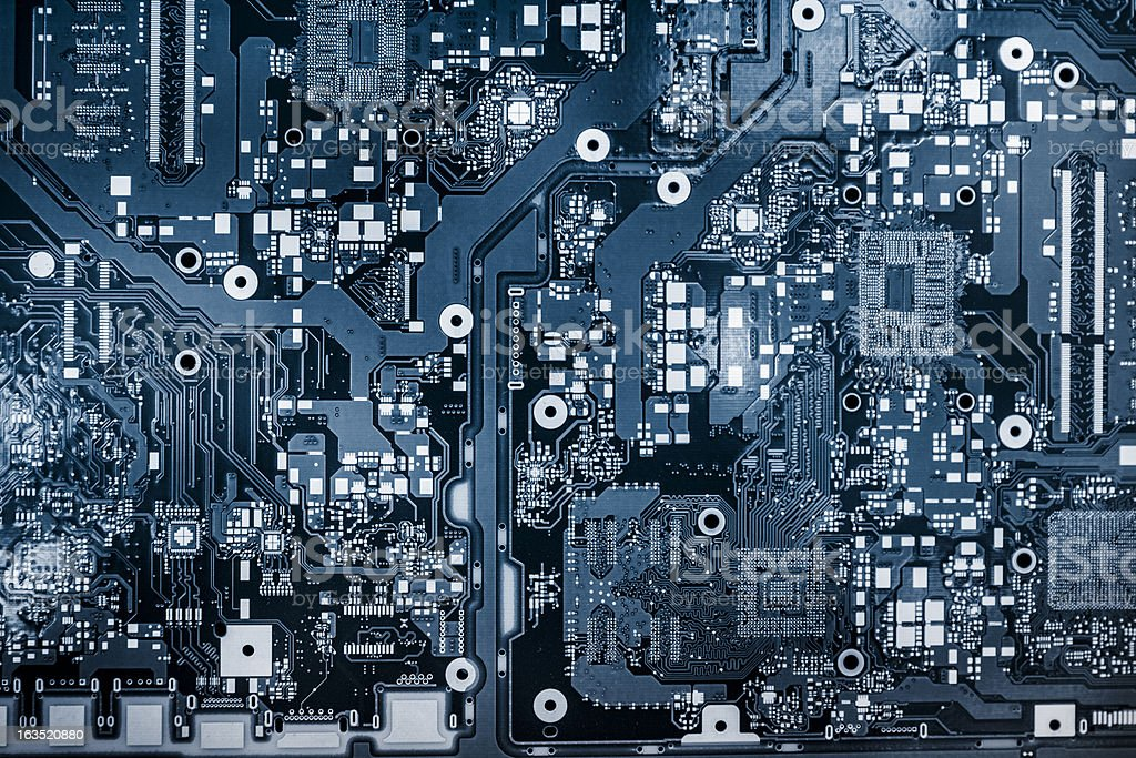 Abstract background with computer circuit board stock photo