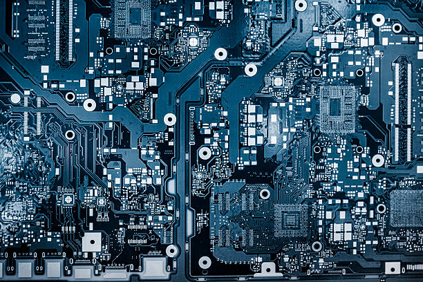 abstract background with computer circuit board - mother board stock photos and pictures