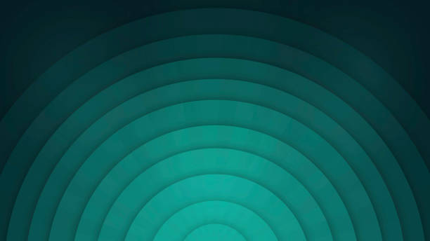 Abstract Background with Concentric Circles - Teal stock photo