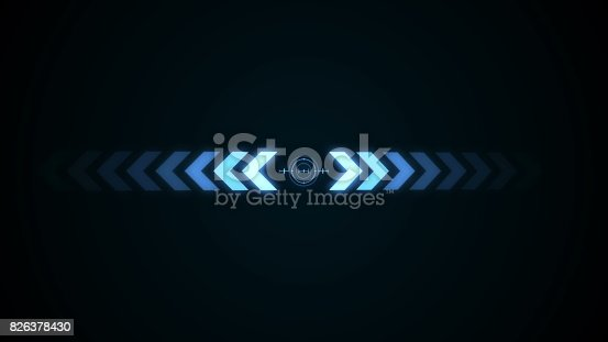 istock Abstract background with crosshair icon animation 826378430