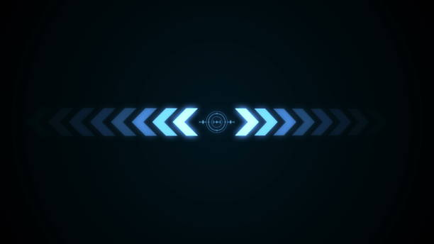 zusammenfassung hintergrund mit fadenkreuz-symbol-animation - target raumgestaltung stock-fotos und bilder