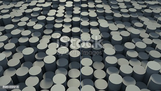 istock Abstract background with cylinders 898469916