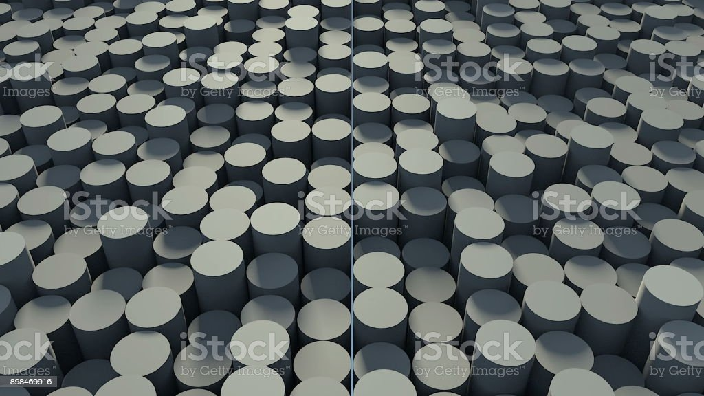 Abstract background with cylinders stock photo