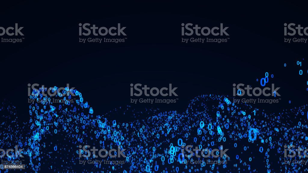 Abstract background with digital numbers. 3d rendering stock photo