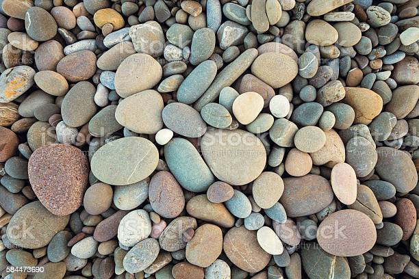 Photo of abstract background with dry round pebble in vintage style