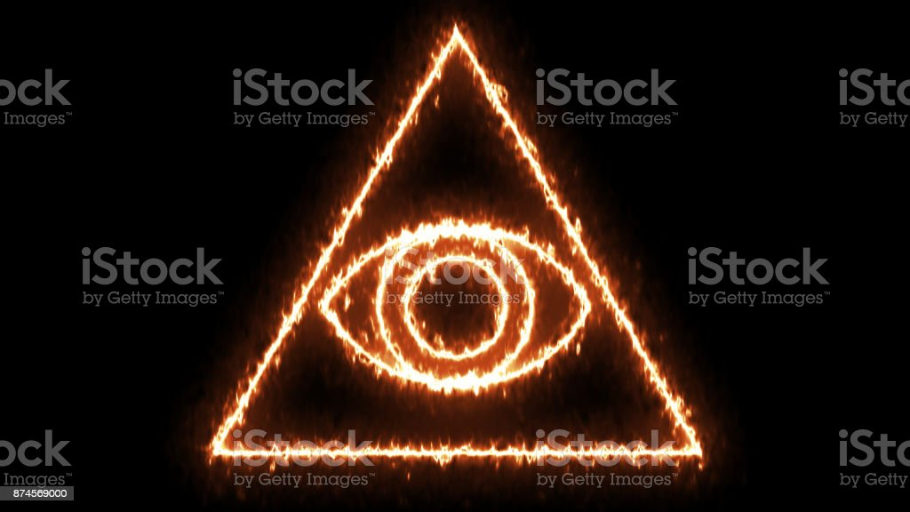 Abstract background with Eye of Providence stock photo