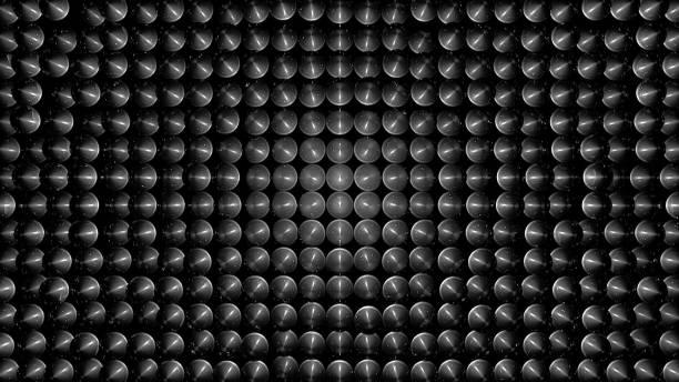 abstrakt hintergrund mit glaskugeln - sich im kreis drehen stock-fotos und bilder