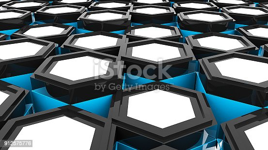 1003112136 istock photo Abstract background with hexagonal. Digital illustration 912575776