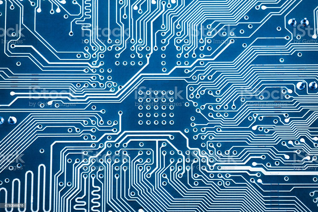 abstract  background with high tech circuit stock photo