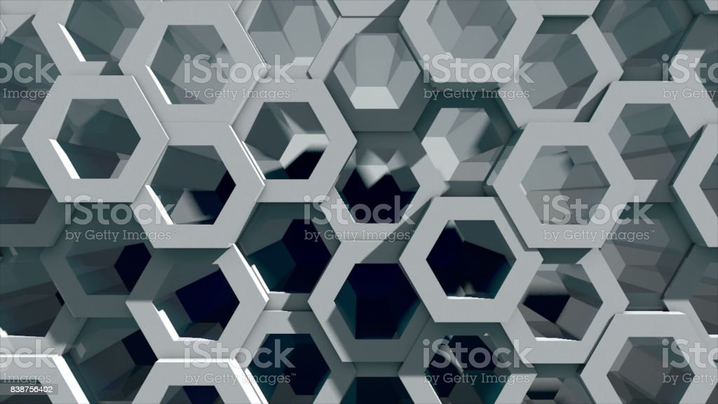 Abstract background with honeycomb wall stock photo