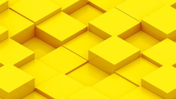 Fondo abstracto con cubos isométricos - foto de stock