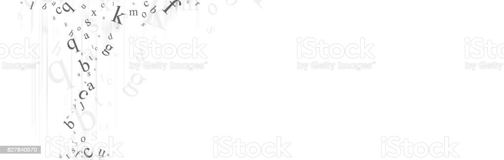 Abstract background with letters. stock photo