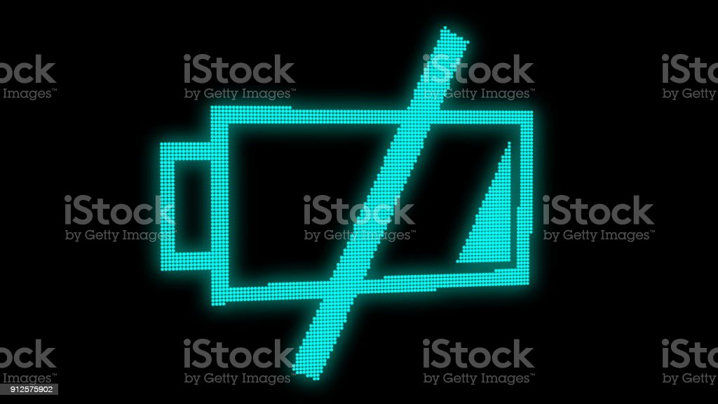 Abstract background with low battery. Digital 3d rendering - Royalty-free Bar - Drink Establishment Stock Photo