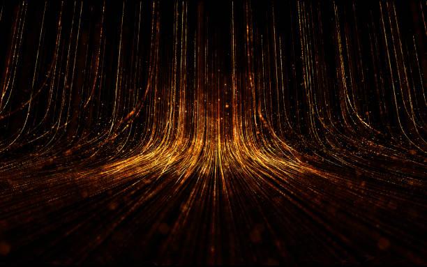Abstracte achtergrond met magische lijnen die zijn opgebouwd uit gloeien. foto