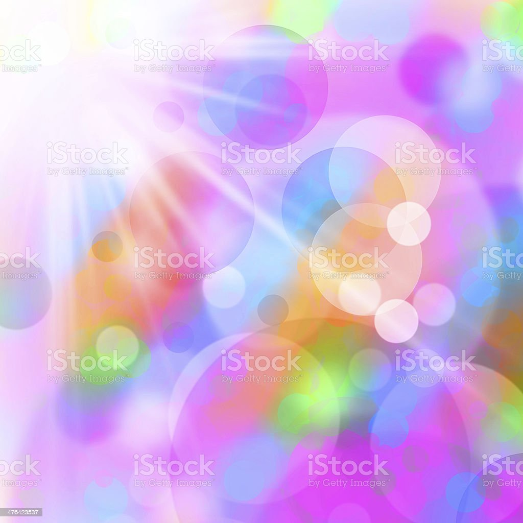 Abstract background with multicolored Bokeh design royalty-free stock photo