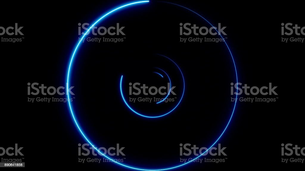 Abstract background with neon circles stock photo