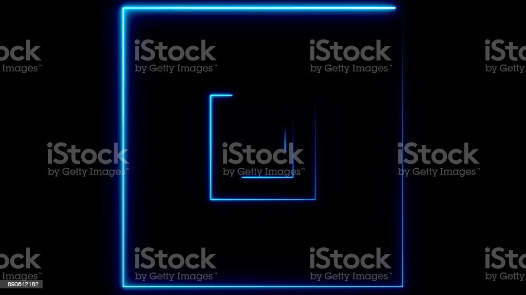 Abstract background with neon squares stock photo