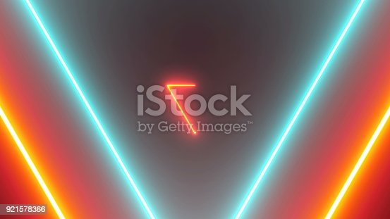 884384640istockphoto Abstract background with neon triangles 921578366