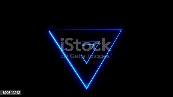 884384640istockphoto Abstract background with Neon Triangulars 890642242