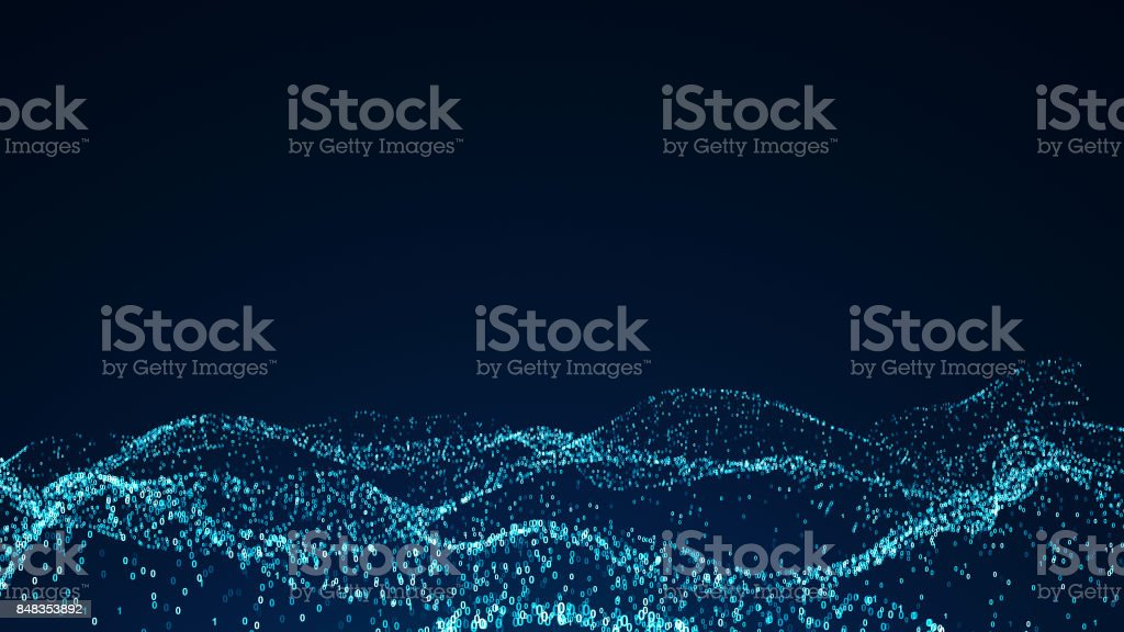 Abstract background with numbers. 3d rendered stock photo